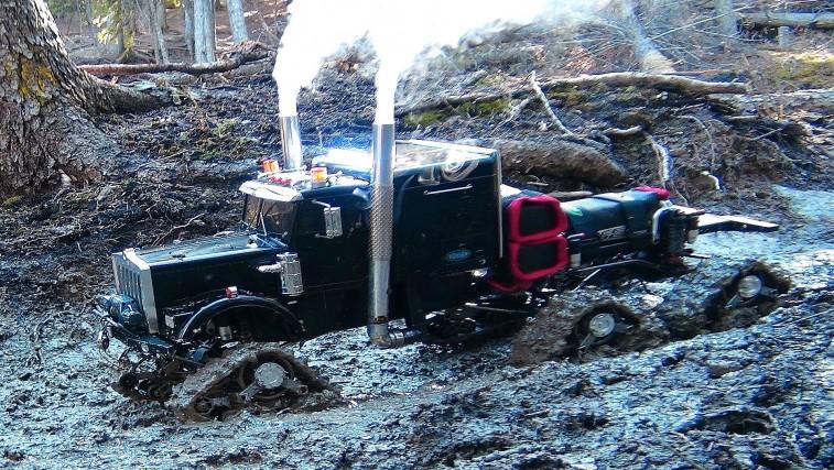 Muddy Tracked RC Semi-Truck
