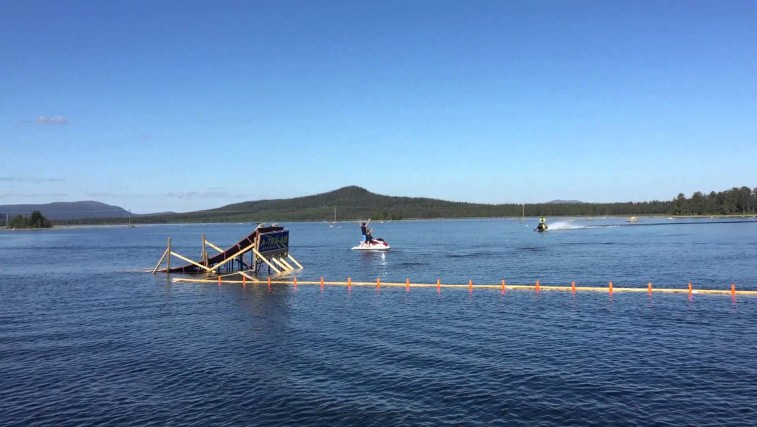 World record! First backflip on water ever.