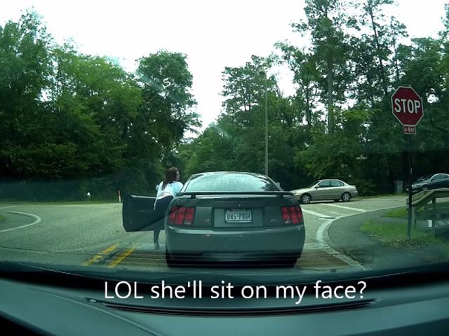 This Is What Happens When A Stripper Gets Road Rage