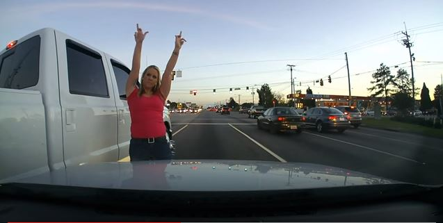 That's One Classy Lady In A Classy Truck!