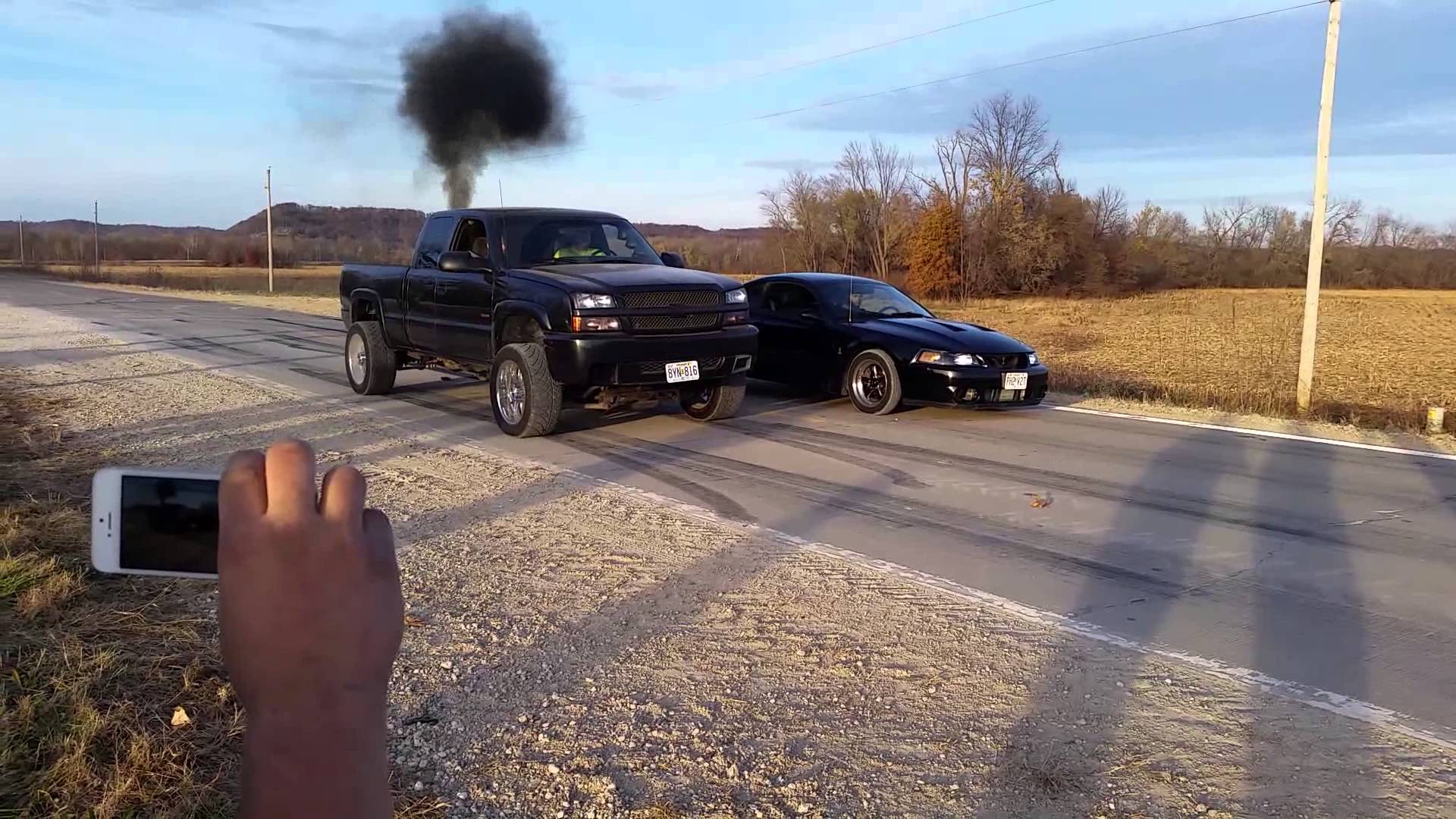 A Duramax Takes On A Shelby Cobra In A Drag Race