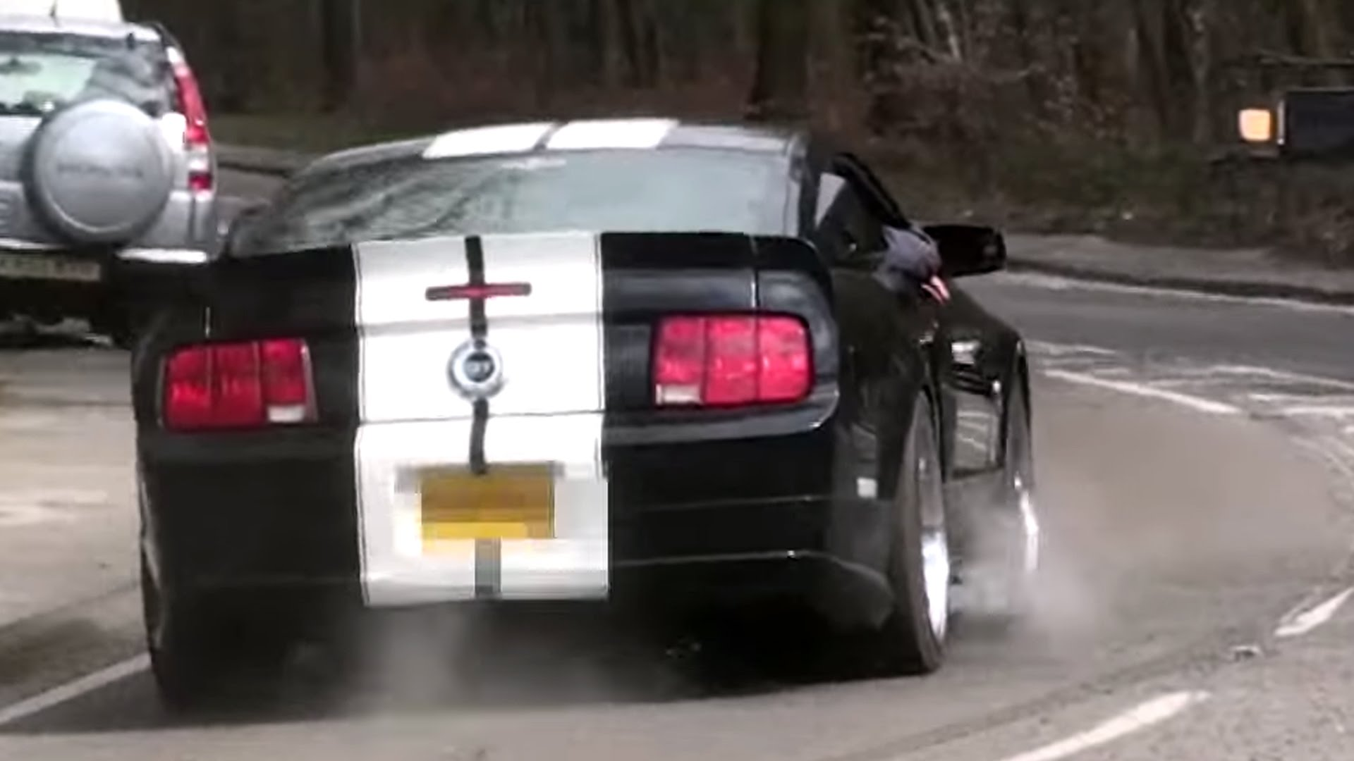 Ford Mustang Burnout Fail – Clutch Explosion