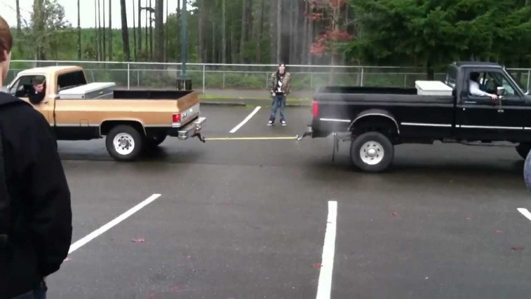 Chevy Truck vs Ford Truck Tug Of War