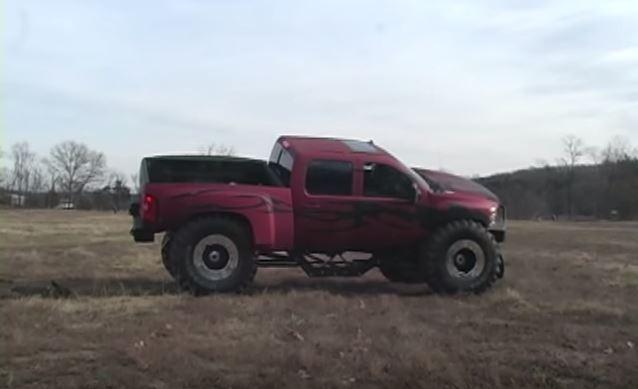 Chevy truck jump fail