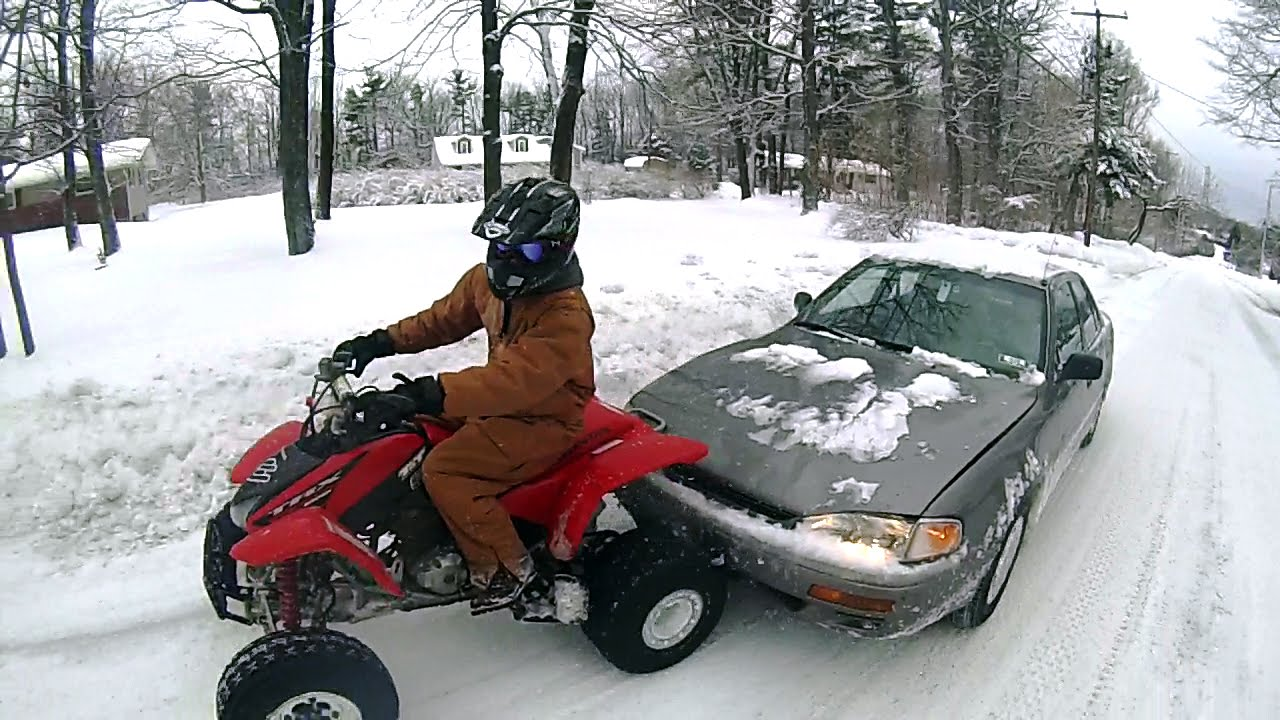 ROAD RAGE CAUGHT ON CAMERA CAR HITS ATV
