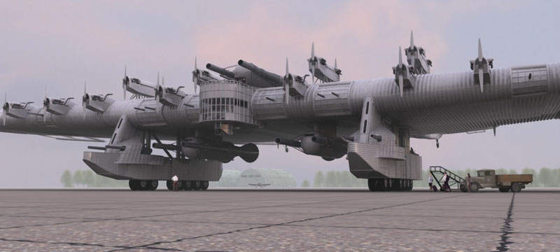Russian Flying Fortresses - UNBELIEVABLE Aircraft Looks Like Spaceship